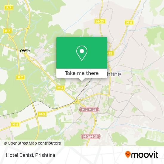 Hotel Denisi map