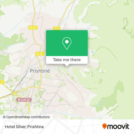 Hotel Silver map