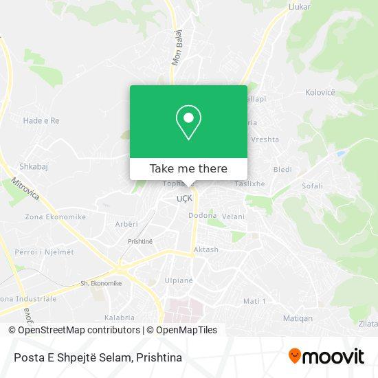 Posta E Shpejtë Selam map