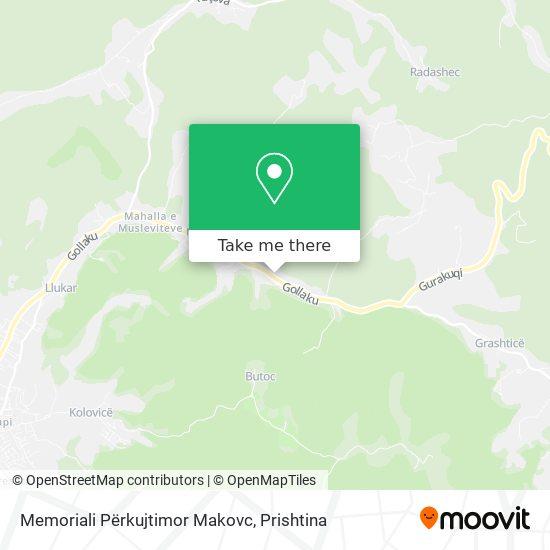 Memoriali Përkujtimor Makovc map