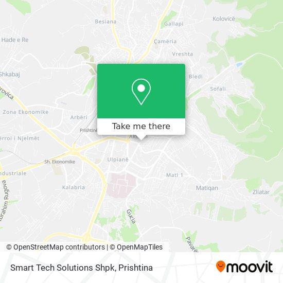 Smart Tech Solutions Shpk map