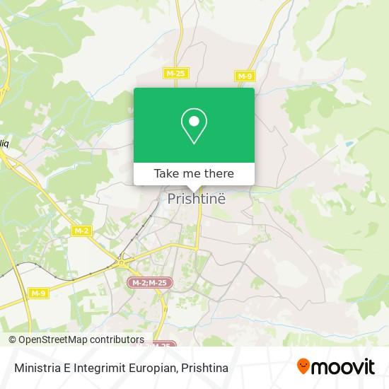 Ministria E Integrimit Europian map