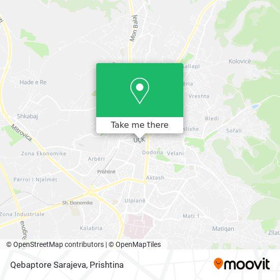 Qebaptore Sarajeva map