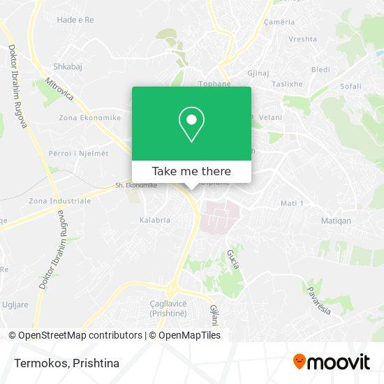 Termokos map