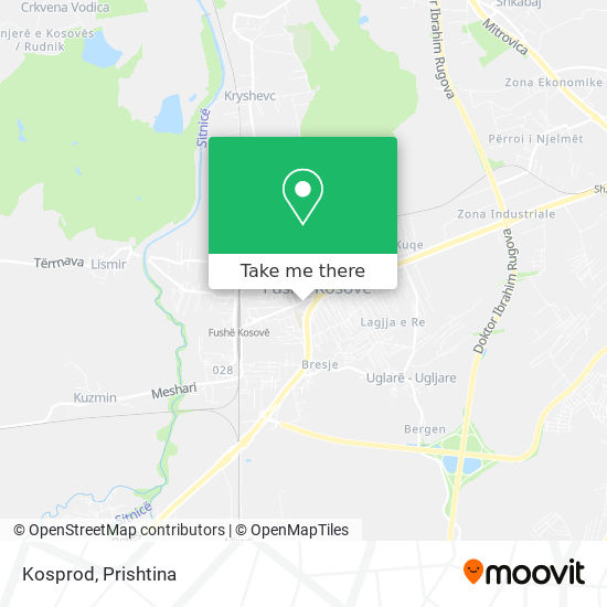 Kosprod map
