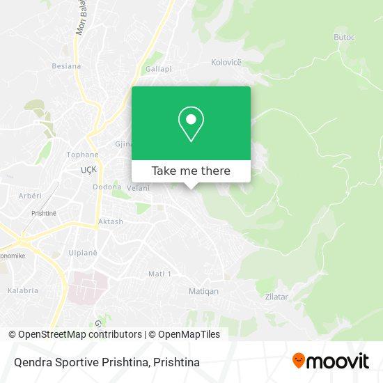 Qendra Sportive Prishtina map
