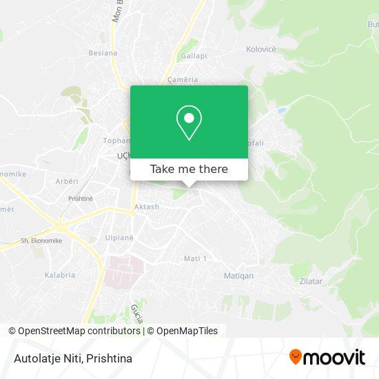 Autolatje Niti map