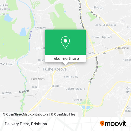 Delivery Pizza map