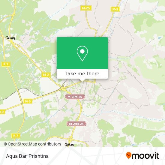 Aqua Bar map