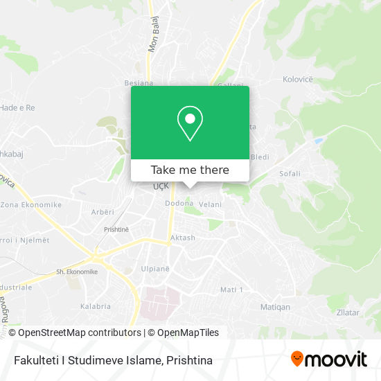 Fakulteti I Studimeve Islame map