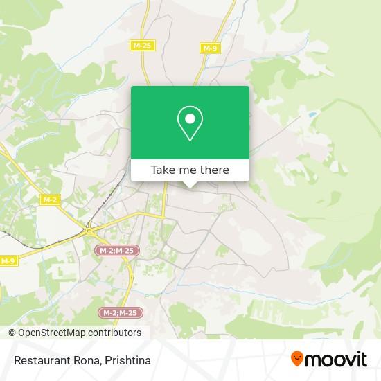 Restaurant Rona map