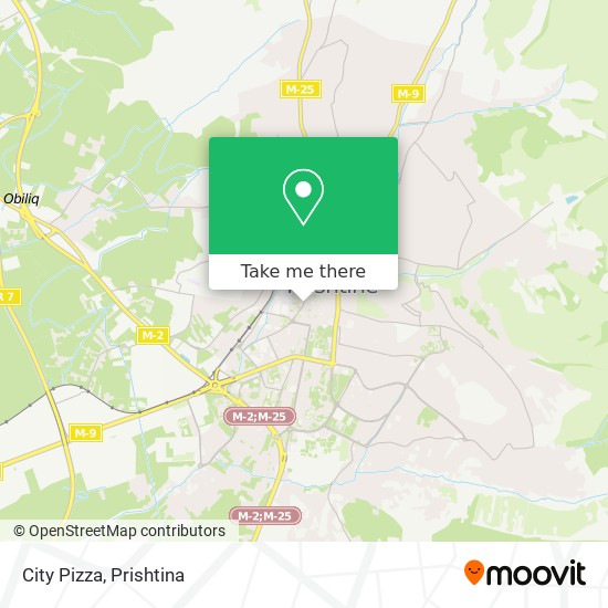 City Pizza map
