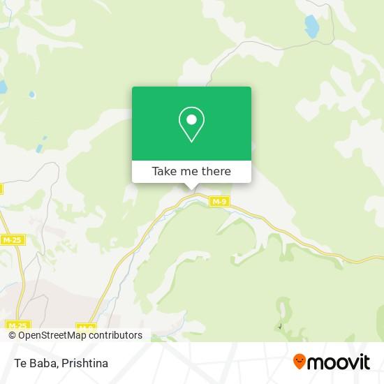 Te Baba map