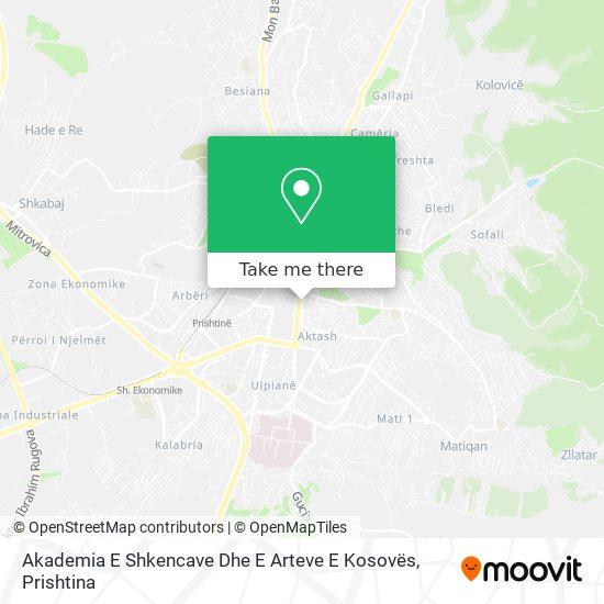 Akademia E Shkencave Dhe E Arteve E Kosovës map
