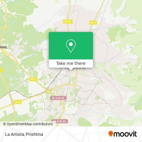 La Artista map