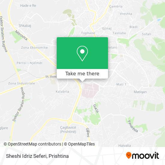 Sheshi Idriz Seferi map