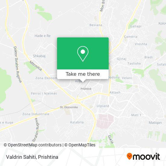 Valdrin Sahiti map