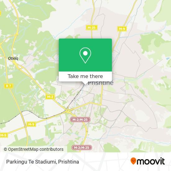 Parkingu Te Stadiumi map