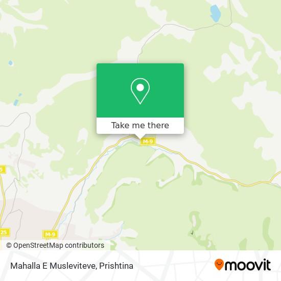 Mahalla E Musleviteve map