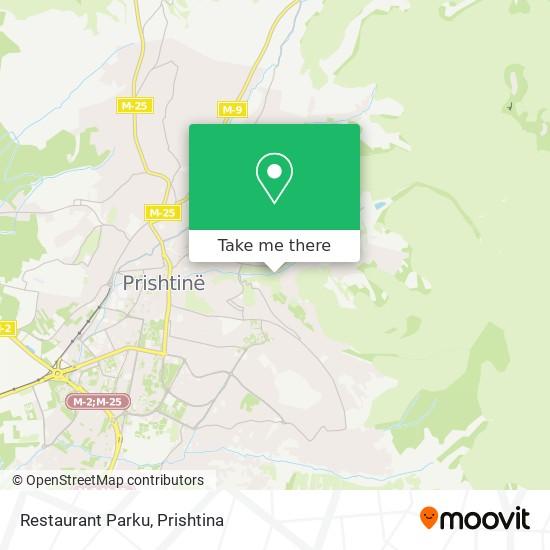 Restaurant Parku map