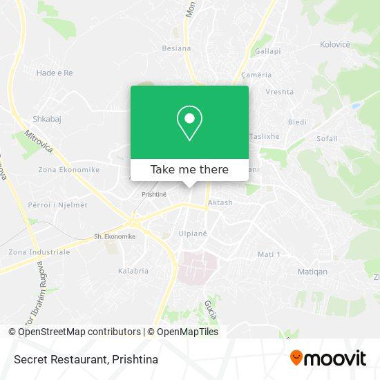 Secret Restaurant map