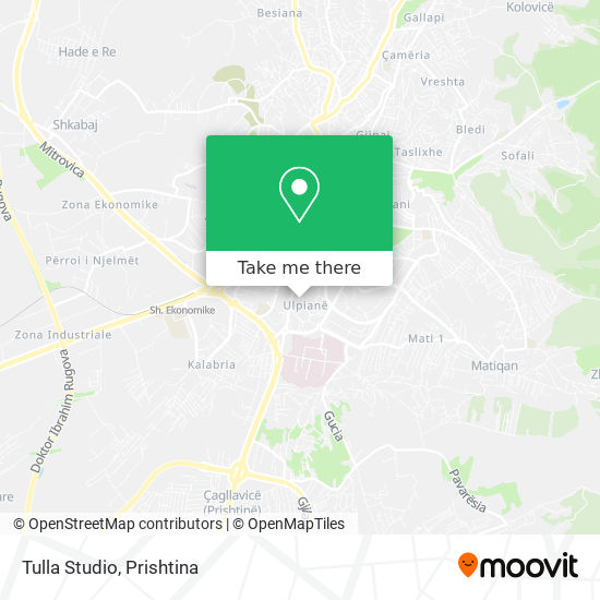 Tulla Studio map