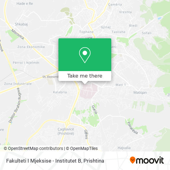 Fakulteti I Mjeksise - Institutet B map