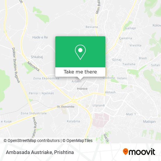Ambasada Austriake map