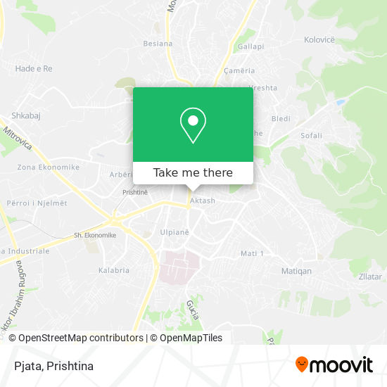 Pjata map