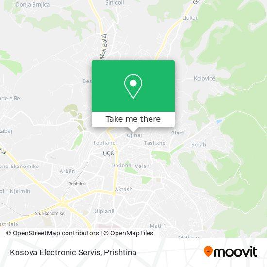 Kosova Electronic Servis map