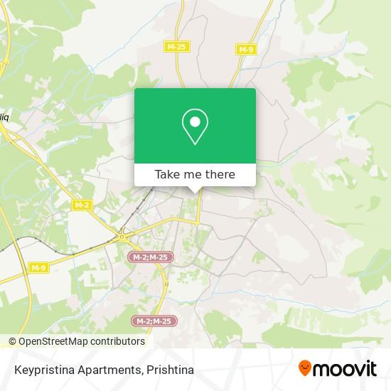 Keypristina Apartments map