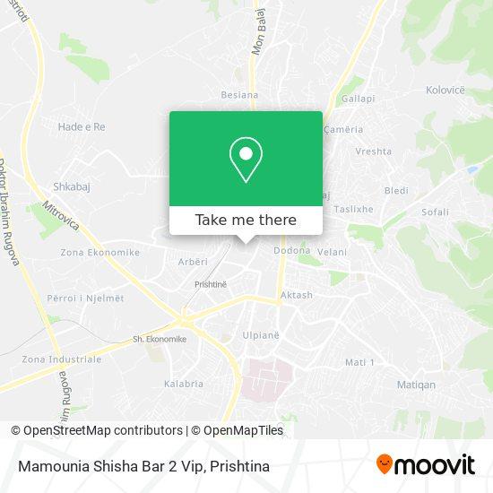 Mamounia Shisha Bar 2 Vip map