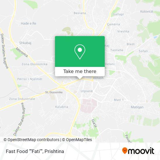 """Fast Food """"""""Fati"""""""" map"""