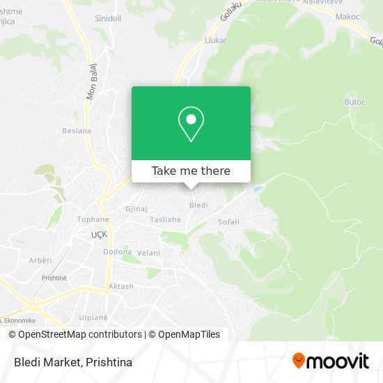 Bledi Market map