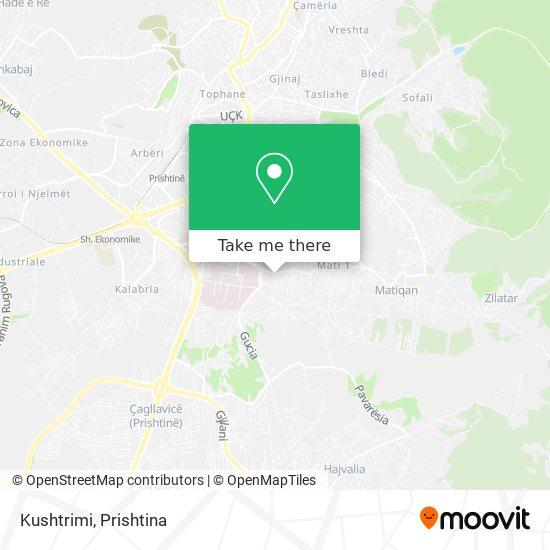 Kushtrimi map