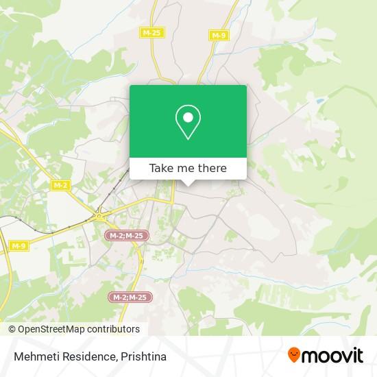 Mehmeti Residence map