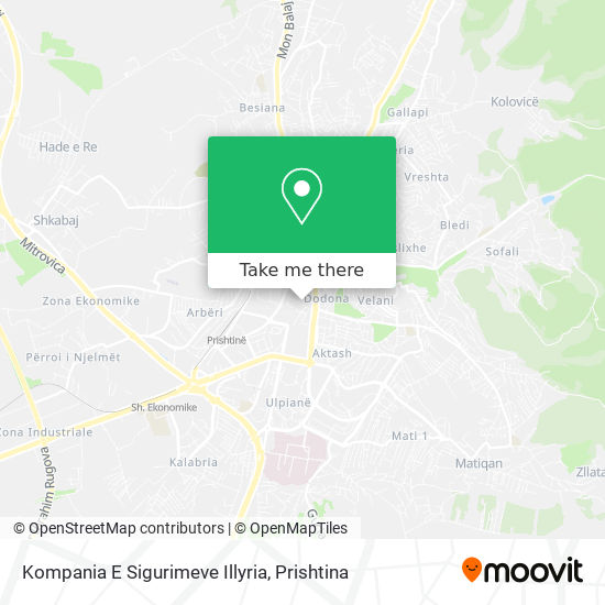 Kompania E Sigurimeve Illyria map