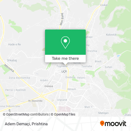 Adem Demaçi map