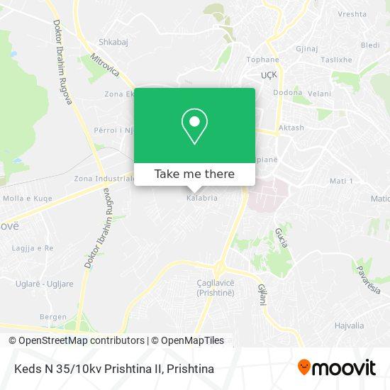 Keds N 35/10kv Prishtina II map