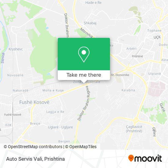 Auto Servis Vali map