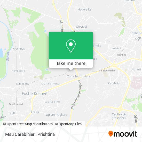 Msu Carabinieri map