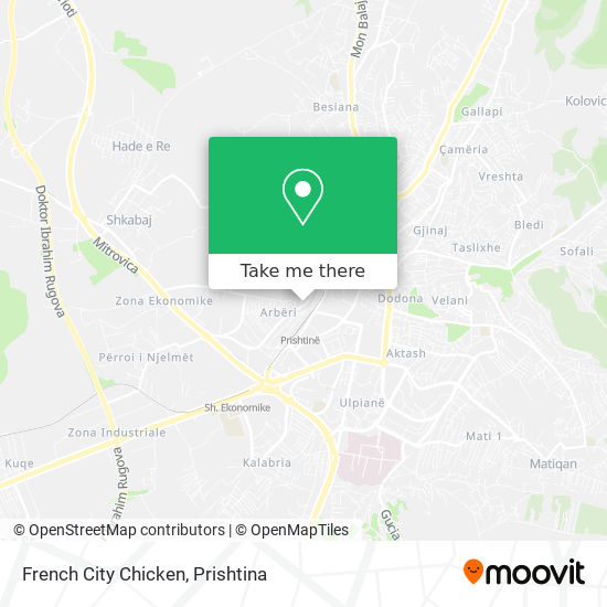 French City Chicken map