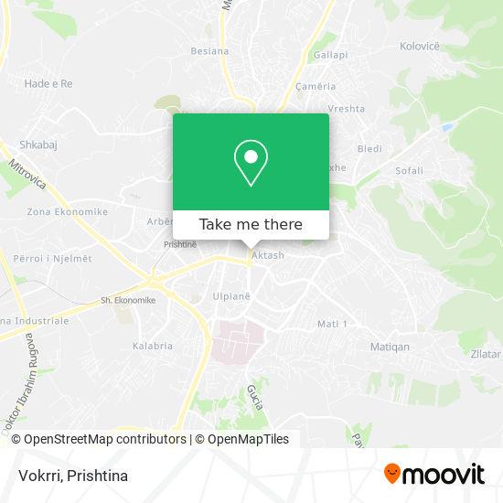 Vokrri map