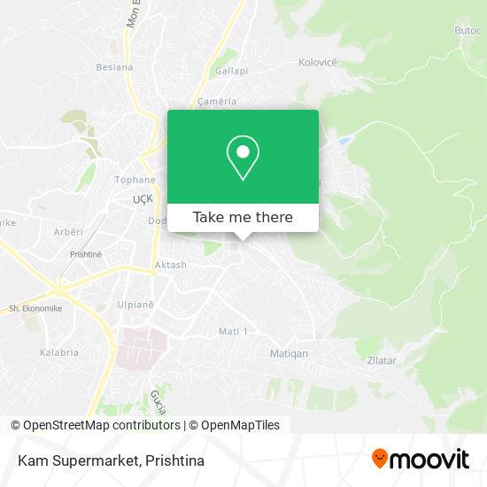 Kam Supermarket map