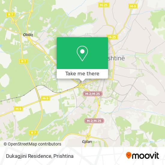 Dukagjini Residence map
