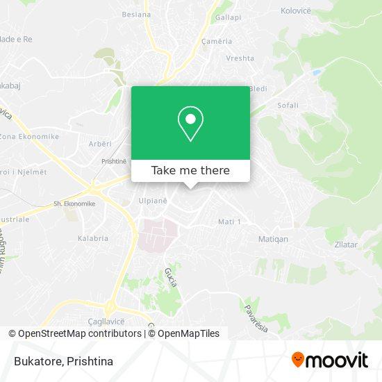 Bukatore map
