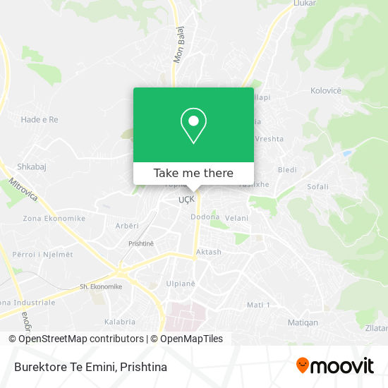 Burektore Te Emini map
