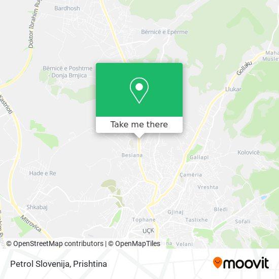 Petrol Slovenija map