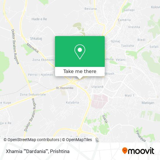 "Xhamia """"Dardania"""" map"