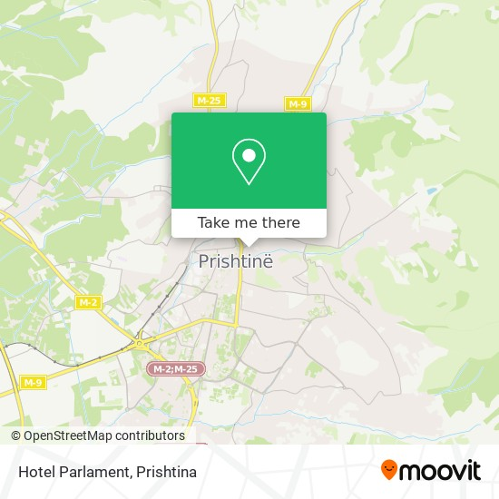 Hotel Parlament map